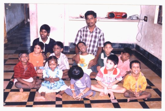 Iyyappan with his children in the early years