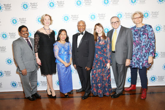 With the World of Children Founders and Honorees