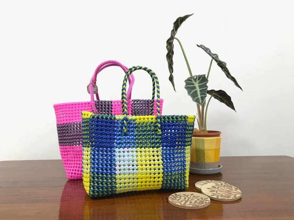 Beautiful baskets made by the girls at our center