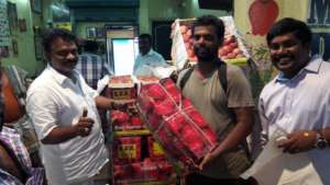 Vegetable vendors join our campaign