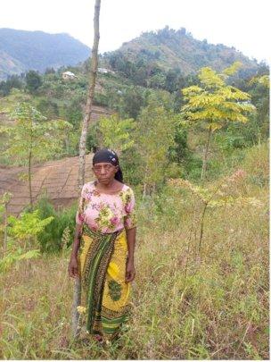 Dorice on her tree farm