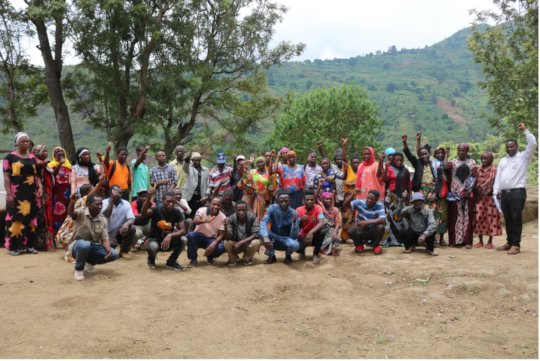 Group photo during farmer payment in February.