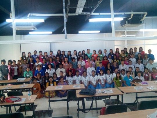 First graduating class of ANI-Mandalay in Aug '16