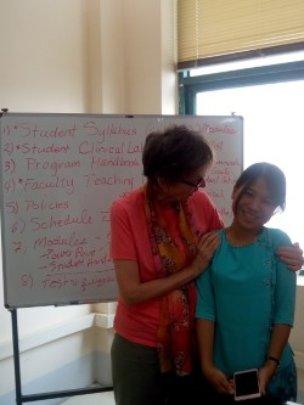 Dr. Martha Tanicala and student