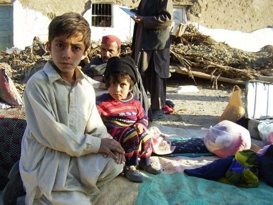 Earthquake-affected children