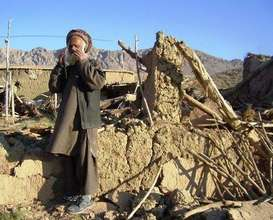 Earthquake-affected elder