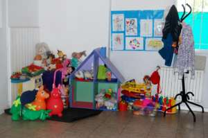 Toys in group provided for the children