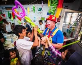 Workshop for the kids at refugee center Belgrade