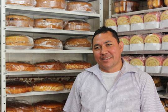 Jose at his bakery in Bogota