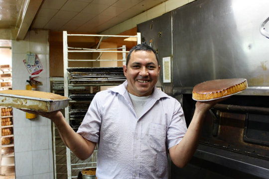 Jose with his famous pastel de queso!
