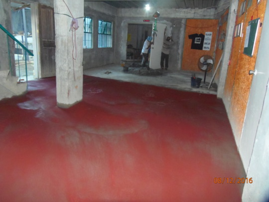 "The centre floors get a final ""screed coat"""