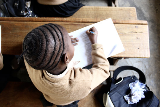 A student at Young Roses Pre and Primary School