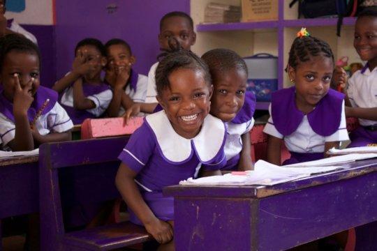 Students of Best Start School in Ghana