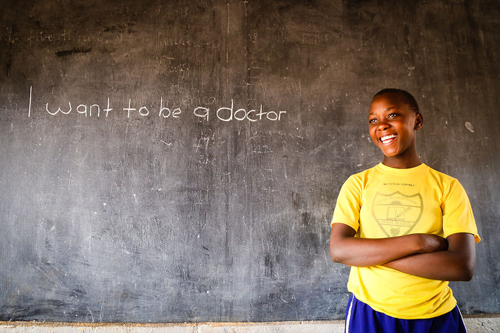 Gorret at the Naggalama Junior School.