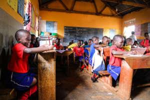 Students at the Naggalama Junior School.