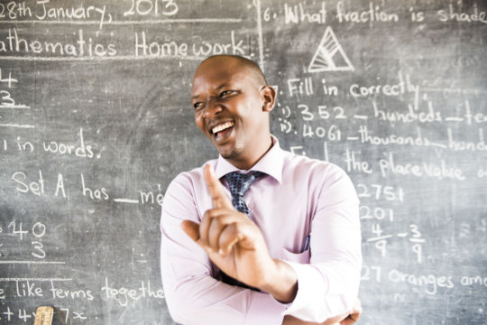 Evans, a school proprietor and teacher in Uganda