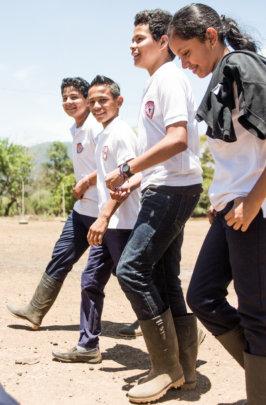 Students at the Entrepreneurship Technical School