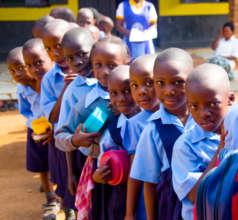 Children at the Batanda Junior School in Uganda