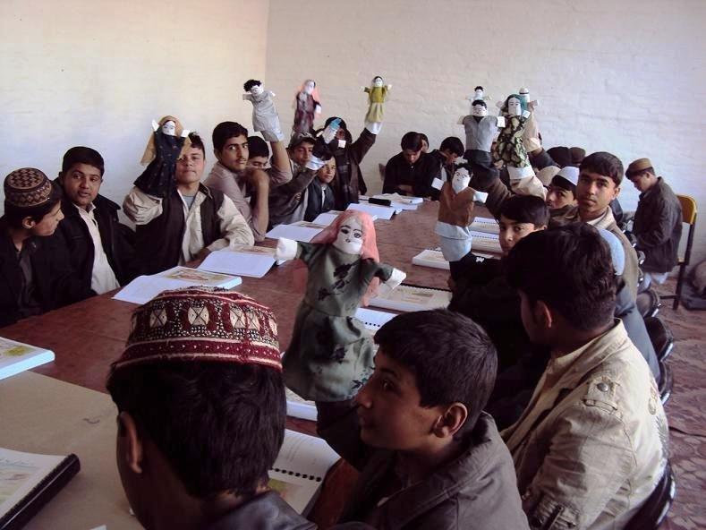 peace education class, Kandahar