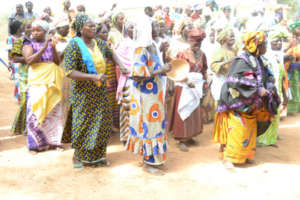 Women leaders gathered in Djiamande (Blouf area)