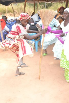 Dancing was part of the ritual actions for peace