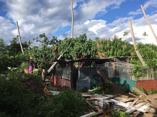 Koro disaster area- new chicken house