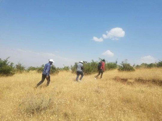 Visiting a site in Machakel in Amhara, Ethiopia
