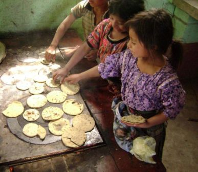 Cooking tortillas on the stove - no smoke,no open fire!