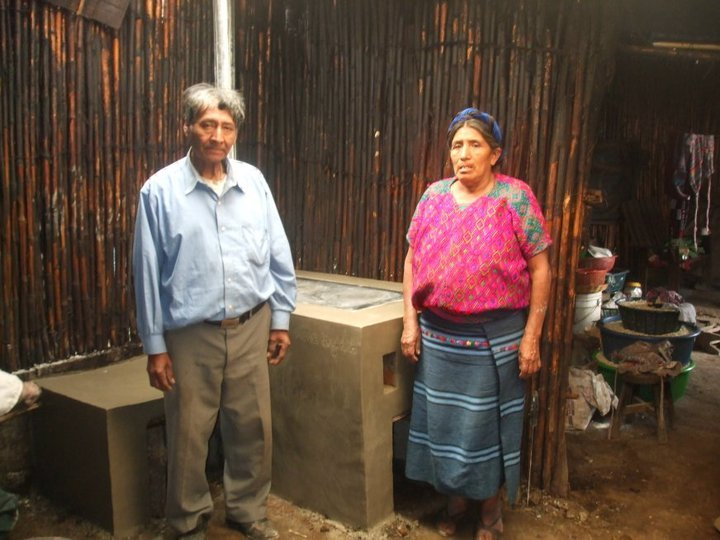 Proud recipients of an energy efficient stove
