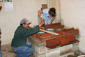 Stove mason teaching construction