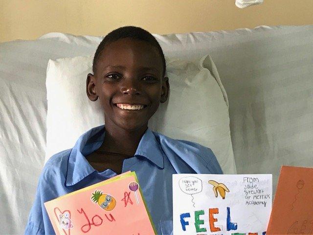 J. Frank seven days after surgery