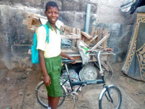 Abbani, age 14, with his new bicycle