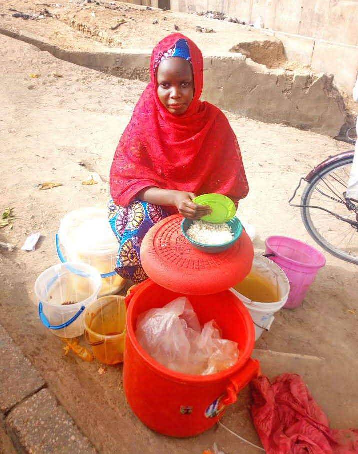 Dada, operating her food business in Maiduguri