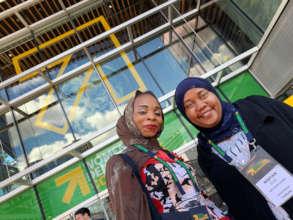 Hauwa & her translator Maryam at Women Deliver!