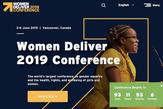 TYTW will appear at Women Deliver 2019
