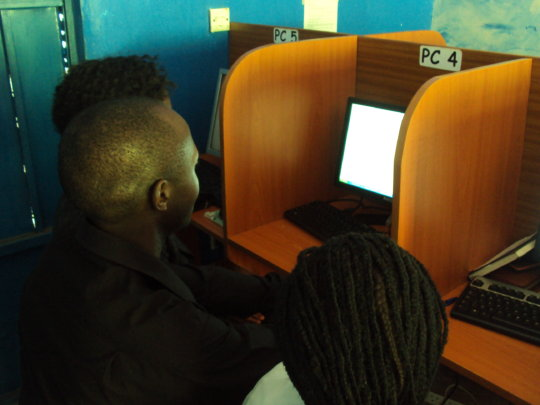 A copier for a youth computer center in Uganda