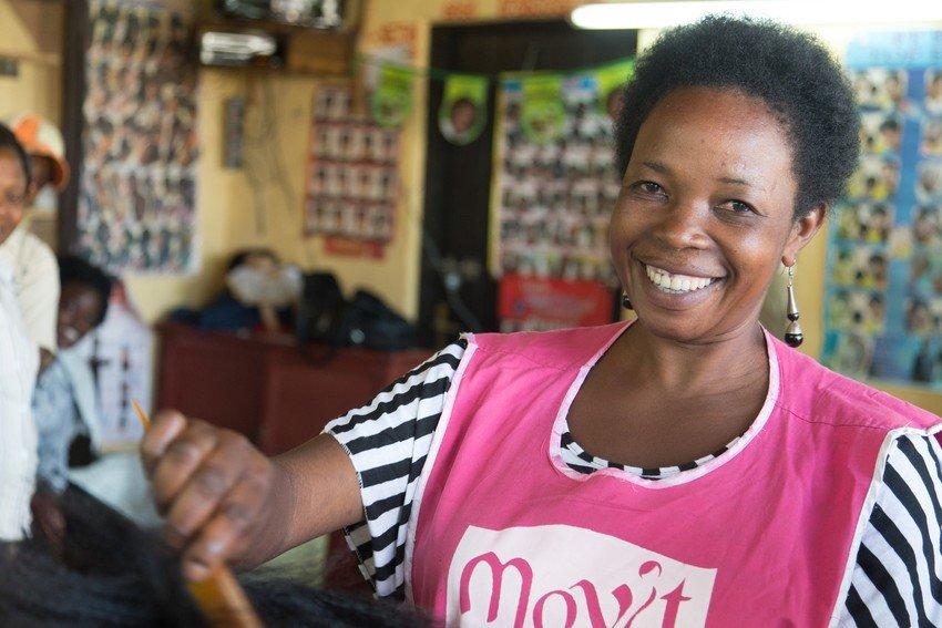 Grace, a Salon owner in Rwanda