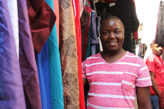 Armando at the market in Maputo