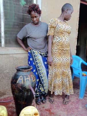 Women Installed Nadi filter at Kakamega