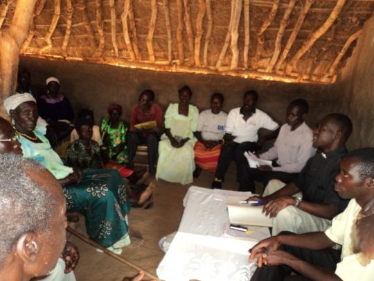 Women meeting at Uganda
