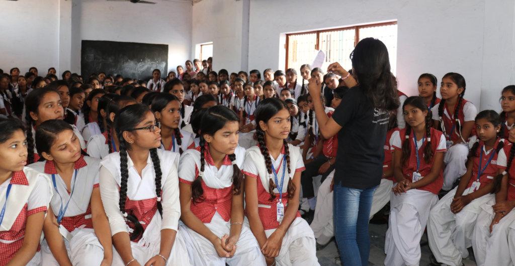 Addressing school girls