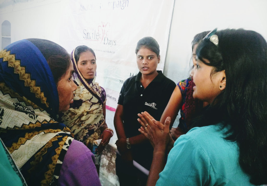 Discussion with slums