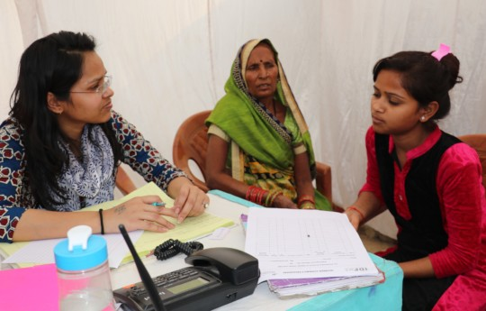 Girl's counselling session