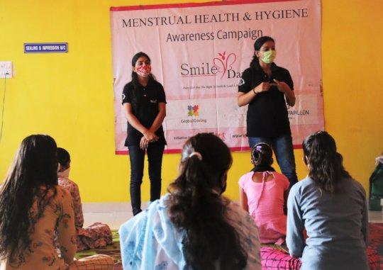 Girls during workshop