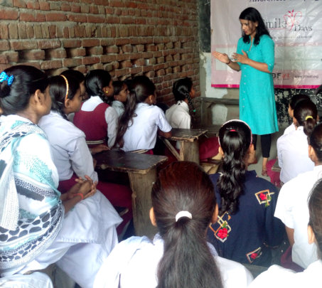 Interaction with school girls