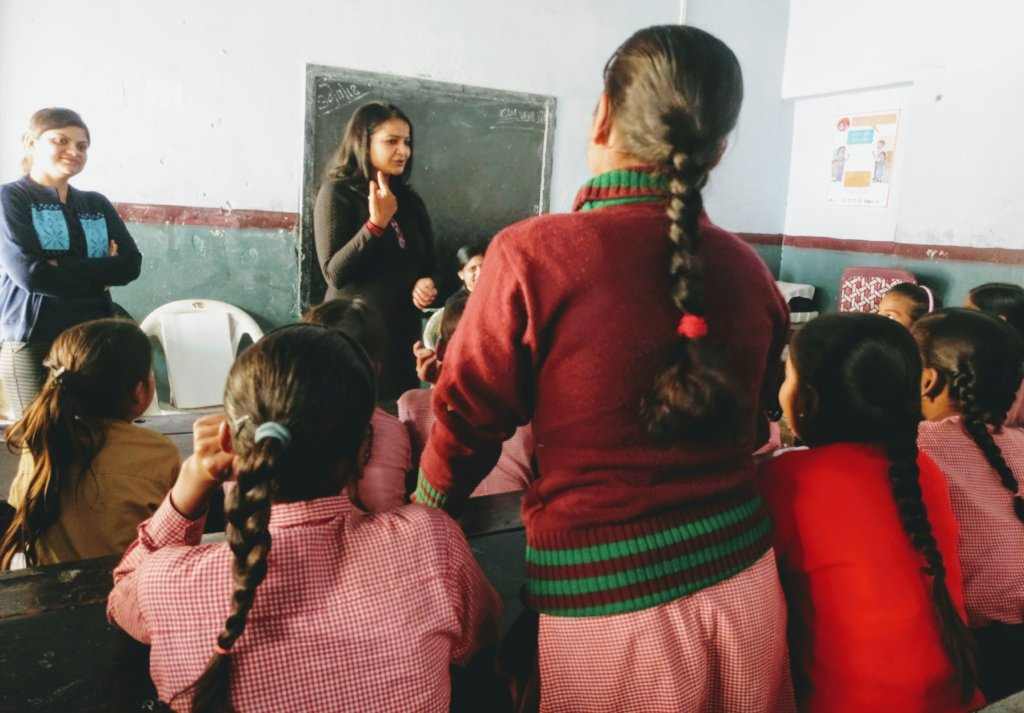 Interaction Session with school girls