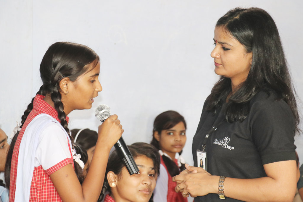 Vaishali during interaction with mentor