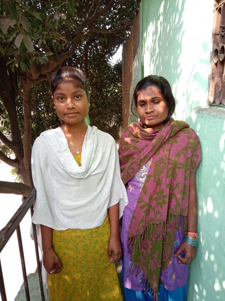 Sangeeta with her mother