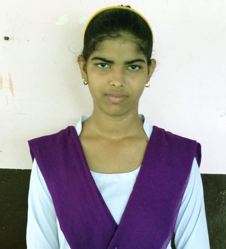 Sanjana, 12th class, a member of Smiley Girls Club