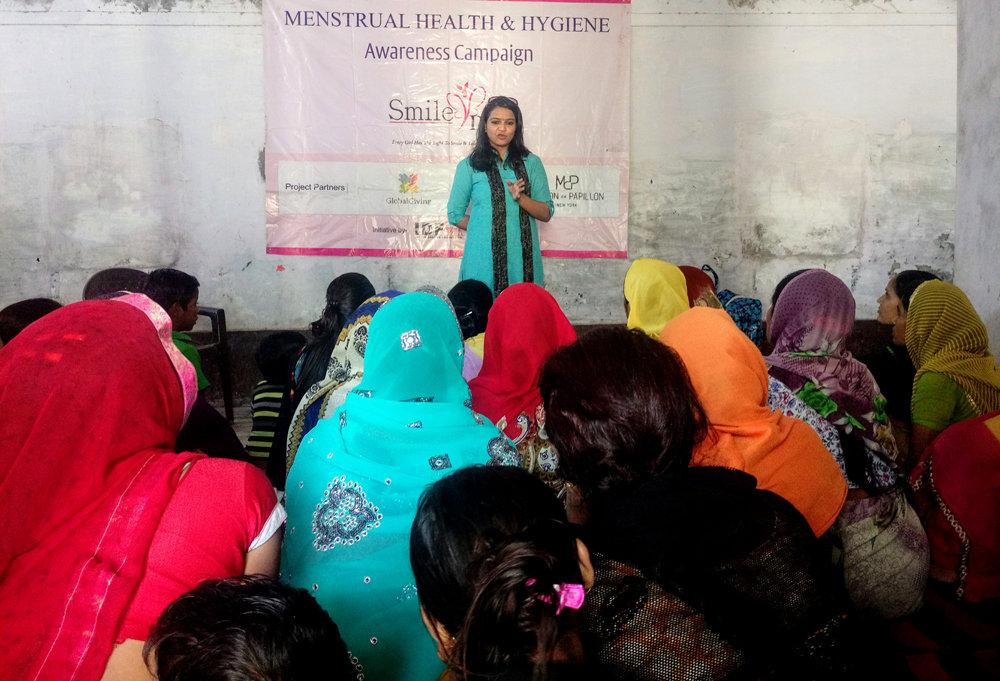 Addressing girls & women during workshop